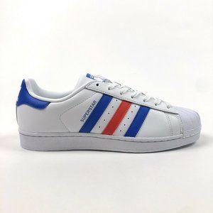 Adidas Originals Superstar White Blue Red BB2246